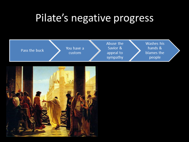 Pilate's Decision Making Mechanism