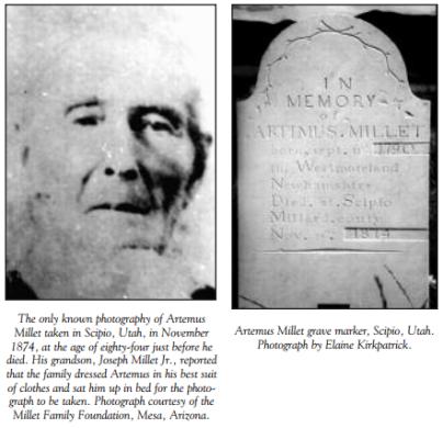 Artemus Millet - Source: MormonHistoricSites.org